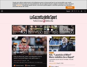 Main page screenshot of gazzetta.it