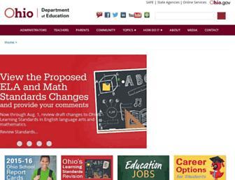 education.ohio.gov screenshot