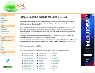 Thumbshot of Slf4j.org