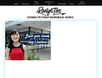 raelyntan.com screenshot