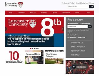 Main page screenshot of lancs.ac.uk