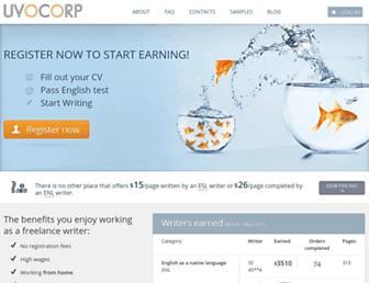 Thumbshot of Uvocorp.com