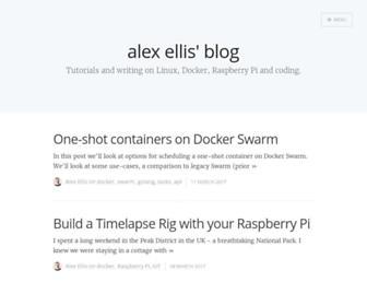 blog.alexellis.io screenshot