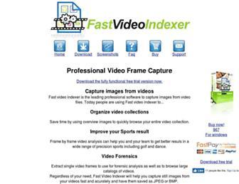 fastvideoindexer.com screenshot