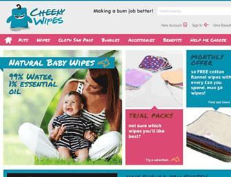 cheekywipes.com screenshot