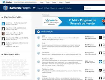 forum.imasters.com.br screenshot