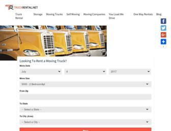 Main page screenshot of truckrental.net