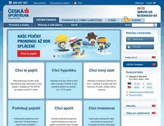 Main page screenshot of csas.cz