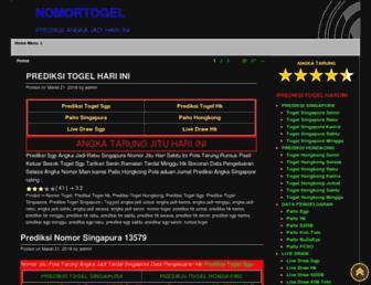 nomortogel.net screenshot