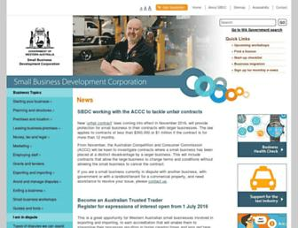 smallbusiness.wa.gov.au screenshot