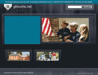 Main page screenshot of gforums.net