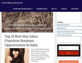 99franchiseideas.com screenshot