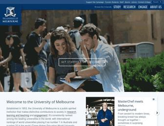 Thumbshot of Unimelb.edu.au