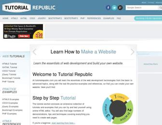 tutorialrepublic.com screenshot