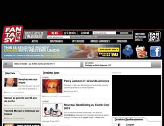 Main page screenshot of fantasy.fr