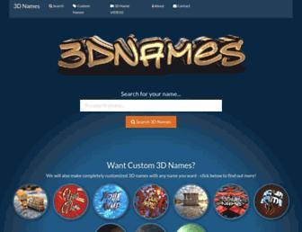 3dnames.net screenshot
