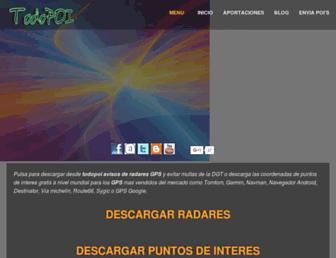 Main page screenshot of todo-poi.es