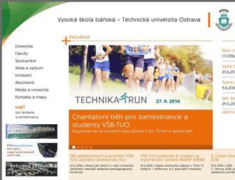 vsb.cz screenshot