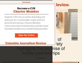 Main page screenshot of cjr.org