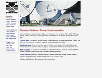shamrock-software.eu screenshot