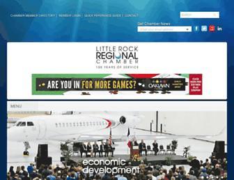 littlerockchamber.com screenshot