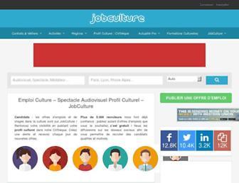 jobculture.fr screenshot