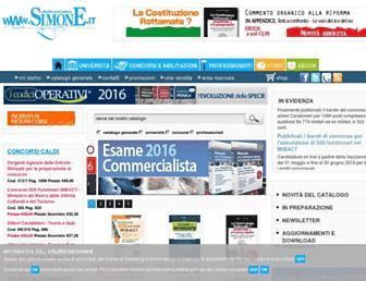 Main page screenshot of simone.it