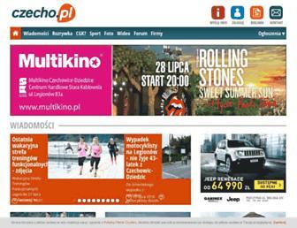 Main page screenshot of czecho.pl