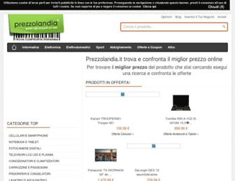 Main page screenshot of prezzolandia.it