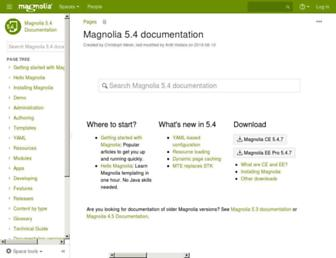 documentation.magnolia-cms.com screenshot