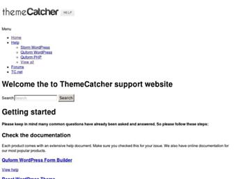 support.themecatcher.net screenshot