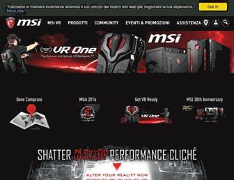 it.msi.com screenshot