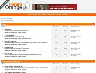 forum-orange.com screenshot