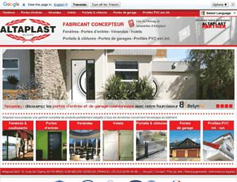 altaplast.fr screenshot