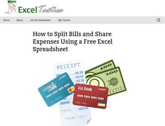 Thumbshot of Exceltactics.com