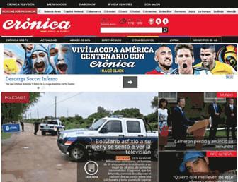 Main page screenshot of cronica.com.ar