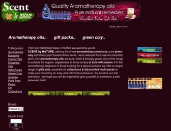 Main page screenshot of scent-by-nature.co.uk