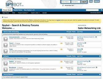 forums.spybot.info screenshot