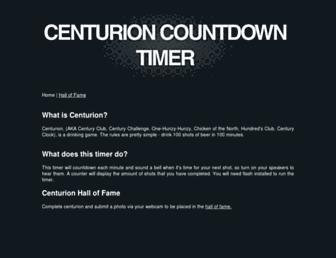 centurioncountdowntimer.com screenshot