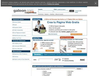 galeon.com screenshot