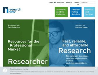 Main page screenshot of researchnow.co.uk