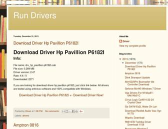 run-drivers.blogspot.com screenshot