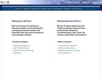 emtec.com screenshot