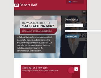roberthalf.com.au screenshot