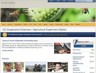 Main page screenshot of ucanr.edu