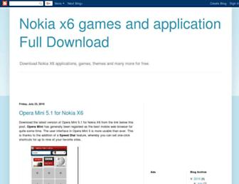 nokiax6app.blogspot.com screenshot