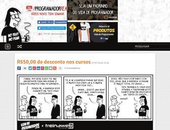 Main page screenshot of vidadeprogramador.com.br