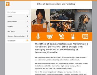 communications.utk.edu screenshot