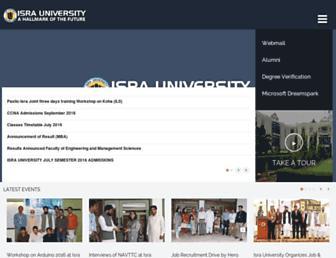 isra.edu.pk screenshot