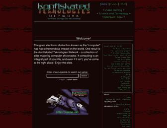 Main page screenshot of kontek.net